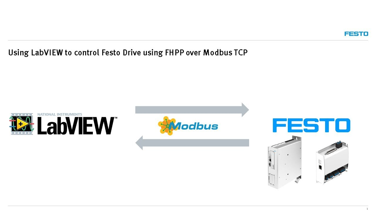 Using LabVIEW to control Festo Drive using FHPP over Modbus TCP