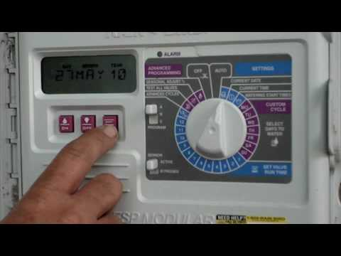How to program a rain bird esp series sprinkler timer youtube sciox Choice Image