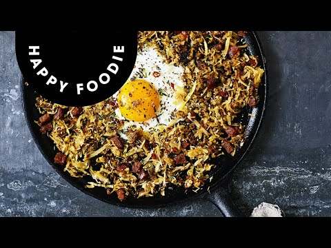 Parsnip Chorizo Hash with Lime, Thyme and Fried Eggs | WIN a copy of FIVE