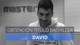 Pruebas Libres Bachillerato: David, alumno de MasterD