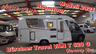 Geniales Wohnmobil Bürstner Travel VAN T 620 G Einzelbetten,Klappbad,Garage😍Unsere Roomtour + Fazit😍