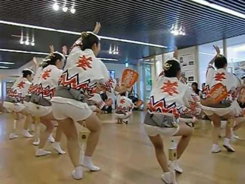 阿波おどり 女性が男踊りを
