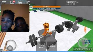 Me and zay playing prison life. on roblox