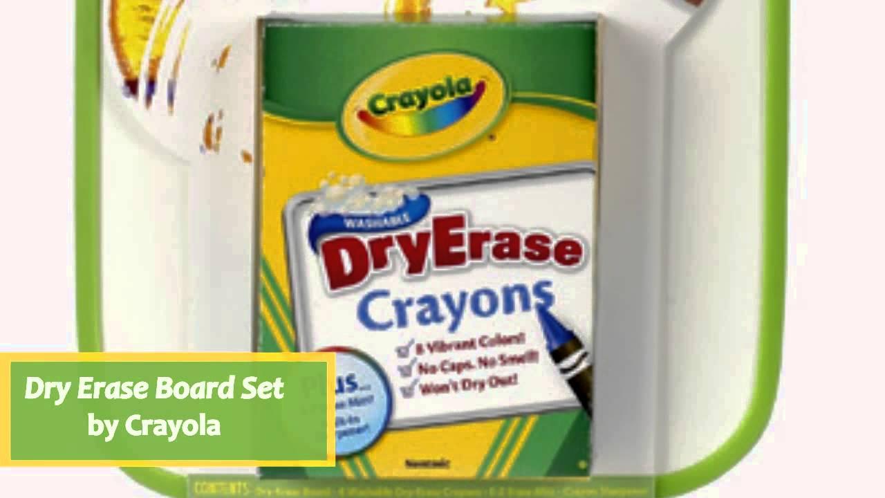 dry erase board set by crayola 9886380006 youtube