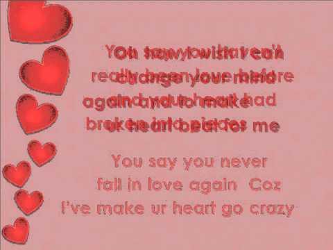 Love can make your heart go crazy - English Song ( Lyrics)