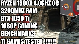 Ryzen 1300X + GTX 1050 Ti - 1080p Gaming Benchmarks  - 11 Games Tested