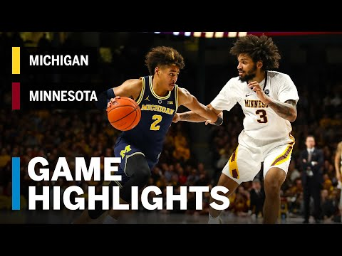 download Highlights: Michigan at Minnesota | Big Ten Basketball