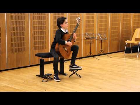 L'audition d'André Nobile au conservatoire du XIV à Paris.