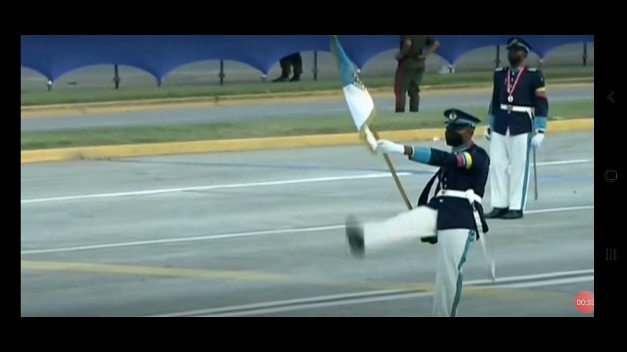 Academia Militar de Oficiales de Tropa C/J Hugo Rafael Chávez Frías en el desfile de 5 de Jul (2021)