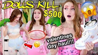 Download $500 DOLLS KILL VALENTINES DAY TRY-ON HAUL!!! Valentines Day Outfits 2019 Mp3 and Videos