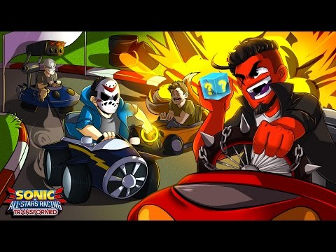 Sonic All-Stars Racing Transformed   BATTLE FOR 1ST PLACE! (w/ H2O Delirious, Bryce, & Ohmwrecker)