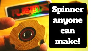 How to make fidget hand spinner with few tools. Cheap and easy! (Wooden)