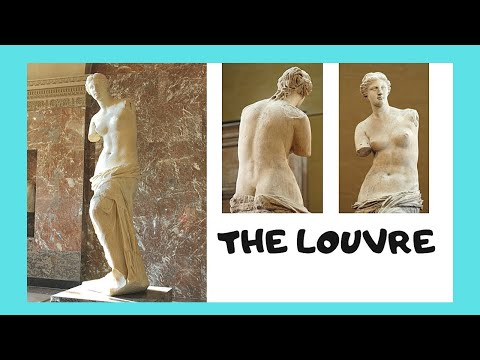 THE LOUVRE, the famous VENUS (APHRODITE) DE MILO Greek statu