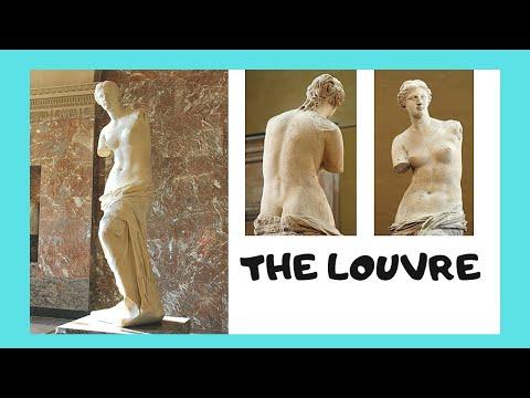 The Louvre, the famous Venus (Aphrodite) de Milo Greek statue (Paris)