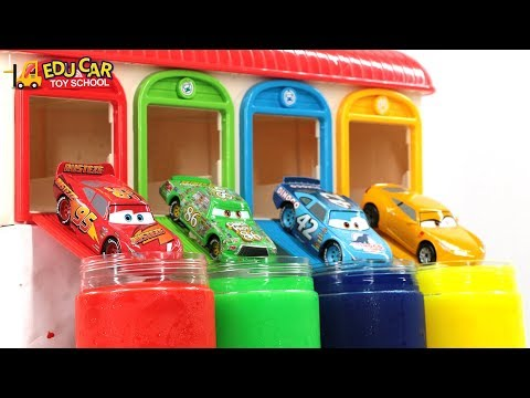 Thumbnail: Learning Color Special Disney Pixar Cars Lightning McQueen Mack Truck slime for kids car toys