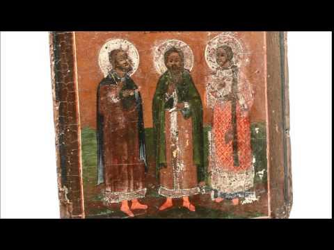 Икона для благополучия семьи - Икона старинная Самон Угрий Авив. DR0277