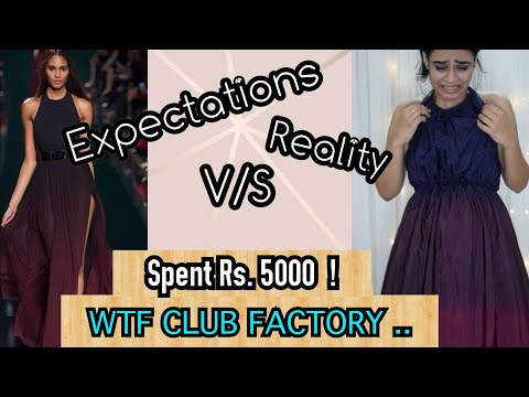 Online Shopping - Expectations v/s Reality | My first CLUB F