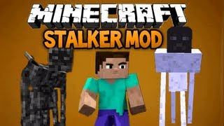 Minecraft: Stalker mod - SCARIEST MOD EVER! ;_;