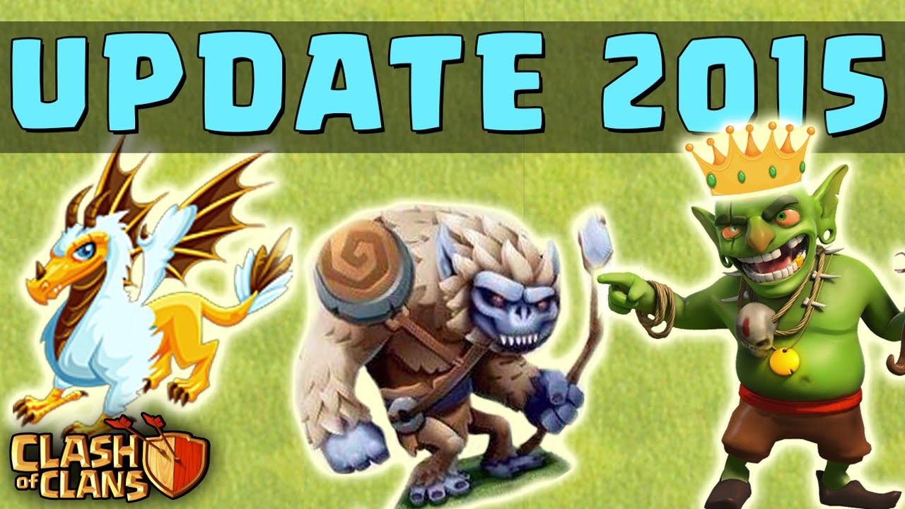 Clash of Clans - 2015 NEW UPDATE! - New Character (Yeti, Goblin Hero ...