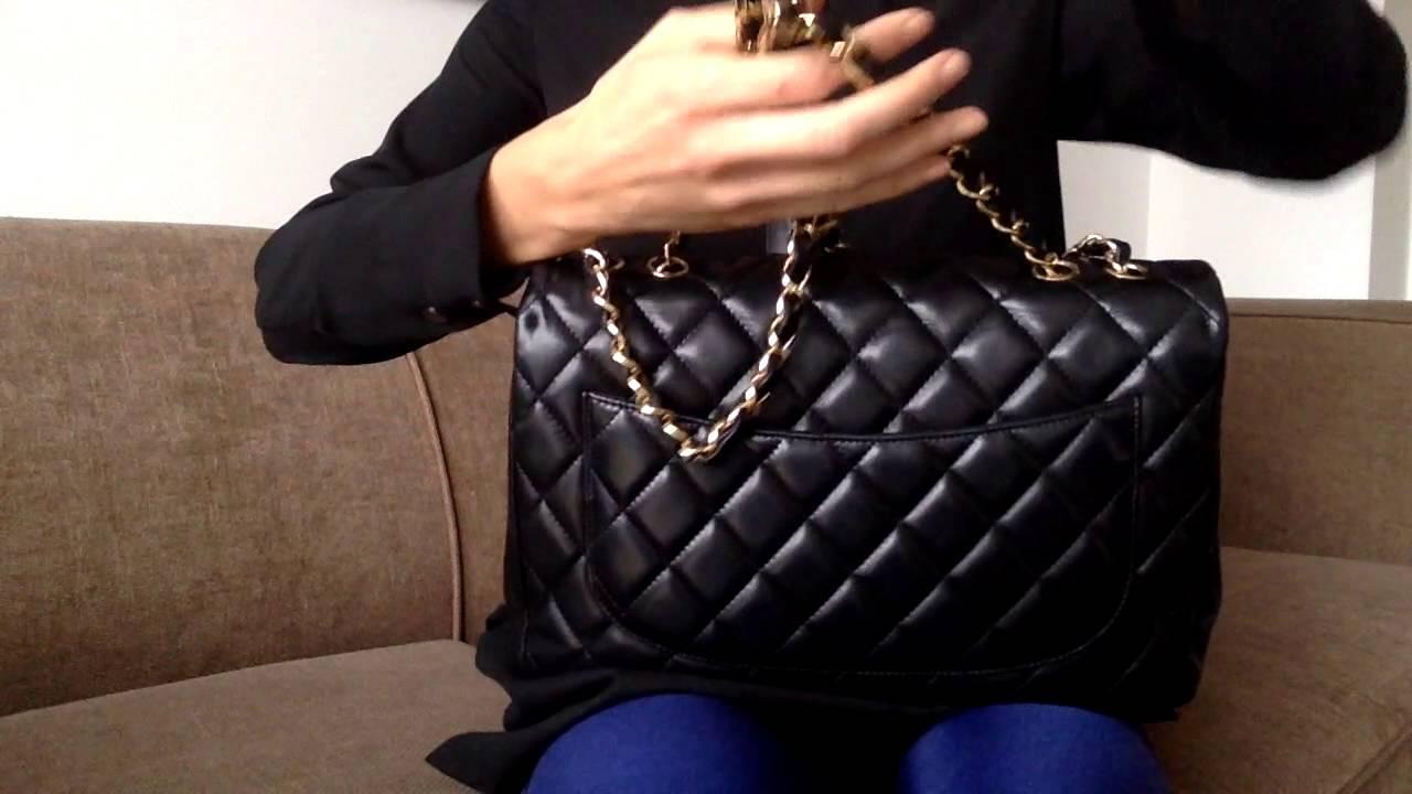 3063a5eb80ce Chanel Classic Jumbo Bag in Lambskin Singe Flap GHW - YouTube