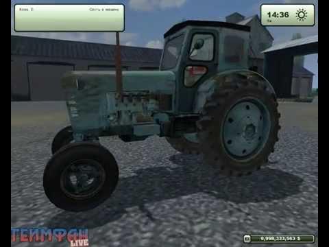 Скачать бесплатно Мод Русского трактора Т 40 для игры фермер симулятор Farming Simulator 2013