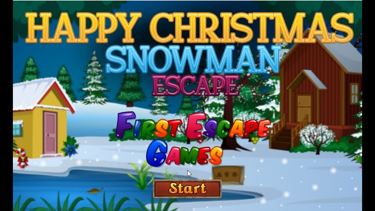 Happy Christmas Snowman Escape walkthrough   First Escape Games     Happy Christmas Snowman Escape walkthrough   First Escape Games