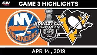 NHL Highlights | Islanders vs Penguins, Game 3 – Apr 14, 2019