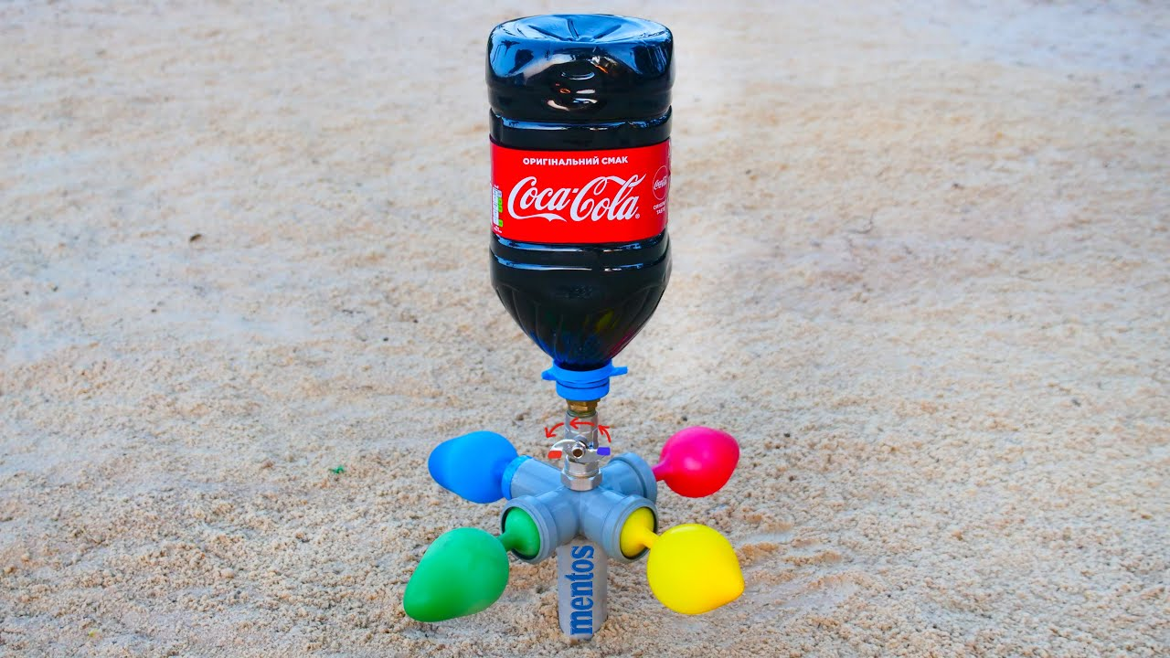 Coca Cola and Mentos vs Balloons