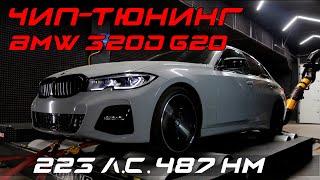Чип-тюнинг BMW 320d (G20) с замерами и логированием на мощностном стенде.