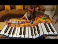 Dokunmatik müzikli oyun matı, Gigantic keyboard playmat, eğlenceli çocuk videosu toys unboxing