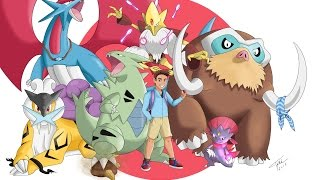 Drawing  My POKEMON TEAM and TRAINER - Art Contest Submission - Sketchbook Pro