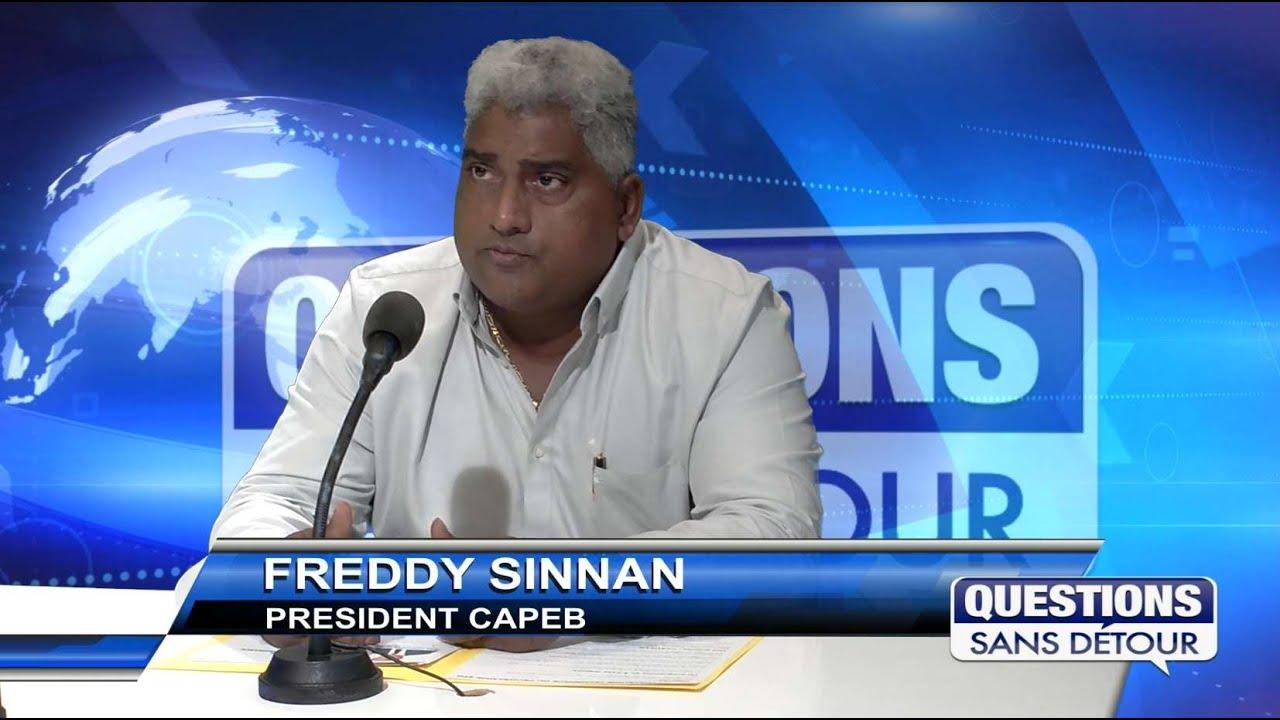 Freddy Sinnan -Président CAPEB est l'invité sur ETV dans QSD