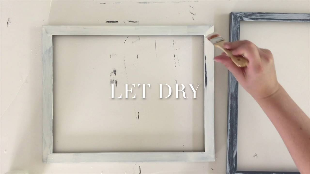 Easy Painted and Distressed Frames - YouTube