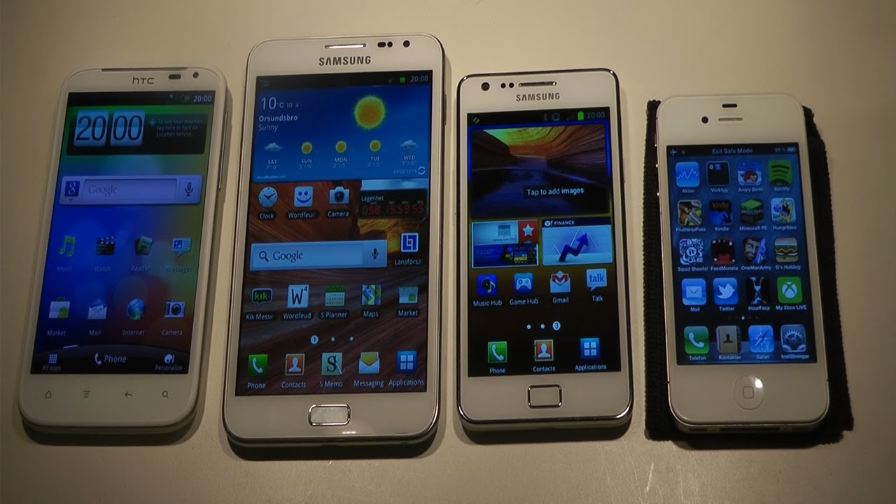 iPhone 4S vs. Sensation XL vs. Samsung Galaxy S2 vs ...