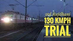 3rd Rajdhani between Mumbai New Delhi | 130 Trial Special | Mued WAP 5 at Udhna