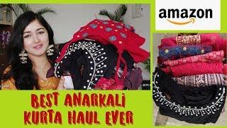 Amazon Anarkali Kurti Haul, Best Embroidred Anarkali Kurta Haul #Anantmaya Beauty
