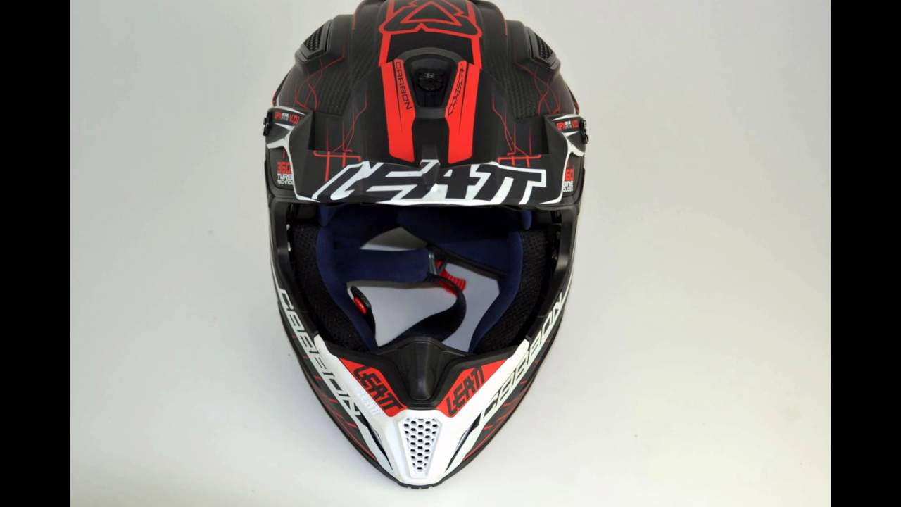 60ae6a9a0 2016 Leatt GPX 6.5 V1 Carbon Helmet - Red Grey White - YouTube