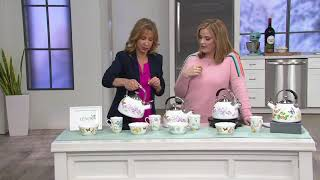 Lenox Butterfly Meadow Enamel on Steel Tea Kettle on QVC