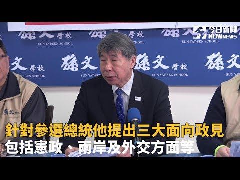 孫文學校總校長張亞中 宣布參選2020總統