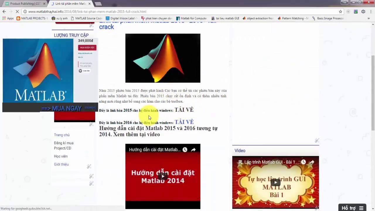 Hướng dẫn cài đặt Matlab 2016 + full Link tải về