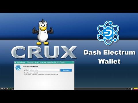 Dash Digital Cash - Install Dash Electrum Wallet On Crux Linux