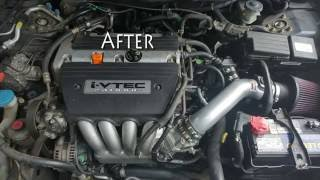 Timelaps of 7th Gen. Accord Starter replacement, TB coolant bypass, and TSX IM install