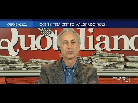 """Travaglio su Renzi: """"affetto da mitomania molesta, un caso umano"""""""