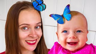 Kids Story in english of how Maya, Mary and family caught a butterfly