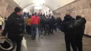 Fight on Metro between CSKA and Spartak 2 / Драка фанатов ЦСКА и Спартака в метро 2