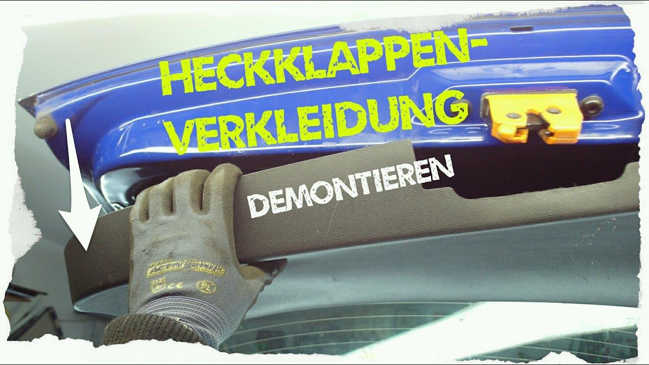 Verkleidung Der Heckklappe Demontieren Skoda Fabia Youtube