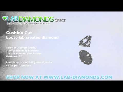 Cushion Cut Loose Lab Created Diamond Simulant