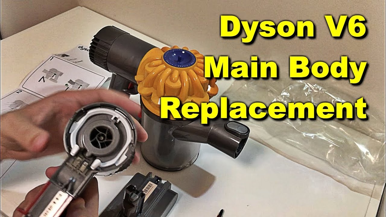 Dyson V6 Flashing Red Light Fix Slim and Dyson V6 Animal Main Body  Replacement Warranty and Battery
