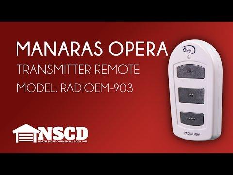 Manaras Opera 3 Button Garage Door Opener Transmitter RADIOEM 903