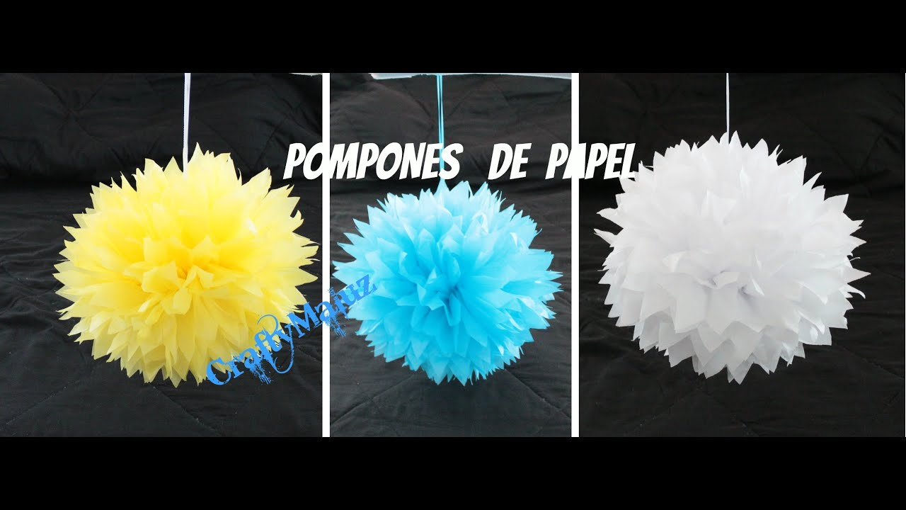 Diy Pompom De Papel China Seda Manualidades Faciles Pompom